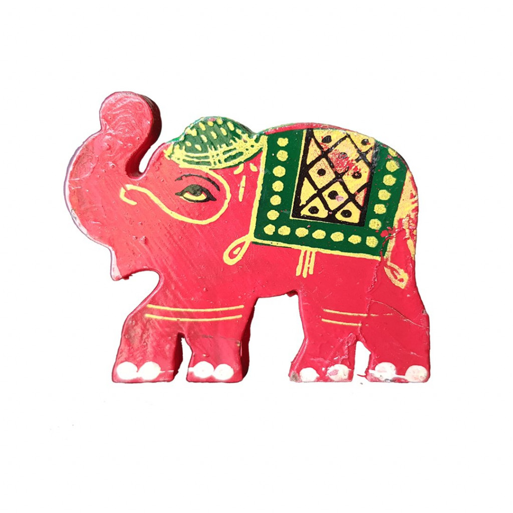Weavers Direct Traditional Indian Handicraft Wooden Toys for Kids and Great for Christmas TreeHouse DecorationCan be Used in Garments Accessories Elegant Elephant Design (Pack of 2)(#1171)-gallery-0
