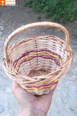 Wicker Willow Basket (with) Handle(#1179)-gallery-0