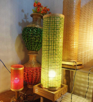 Bamboo Net Coloured Lamp(#118)-gallery-0