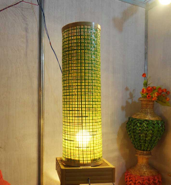 Bamboo Net Coloured Lamp(#118)-gallery-1