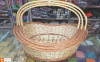 Wicker Willow Gift Basket (with) Handle Set Of 3(#1184) - getkraft.com