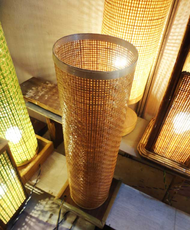 Gorgeous Bamboo Net Lamp Stand(#119)-gallery-1