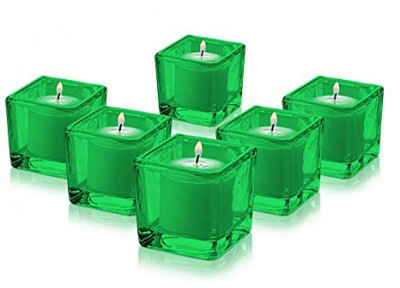 Green Square Votive Aroma Candle Set of 4(#1195)-gallery-0