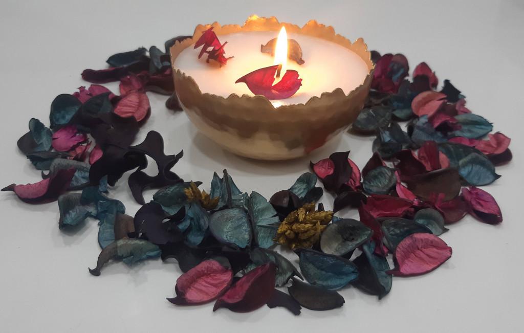Caeleste Votive Lavender Aroma Candle(#1196)-gallery-0