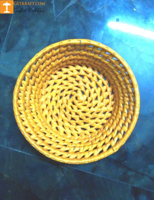 Palm Leaves Round Bowl Tray(#1212)-gallery-0