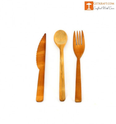 Bamboo Cutlery Set(#1234)-gallery-0