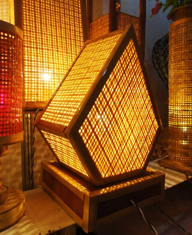 Pentagonal Net Lamp(#124)-gallery-0