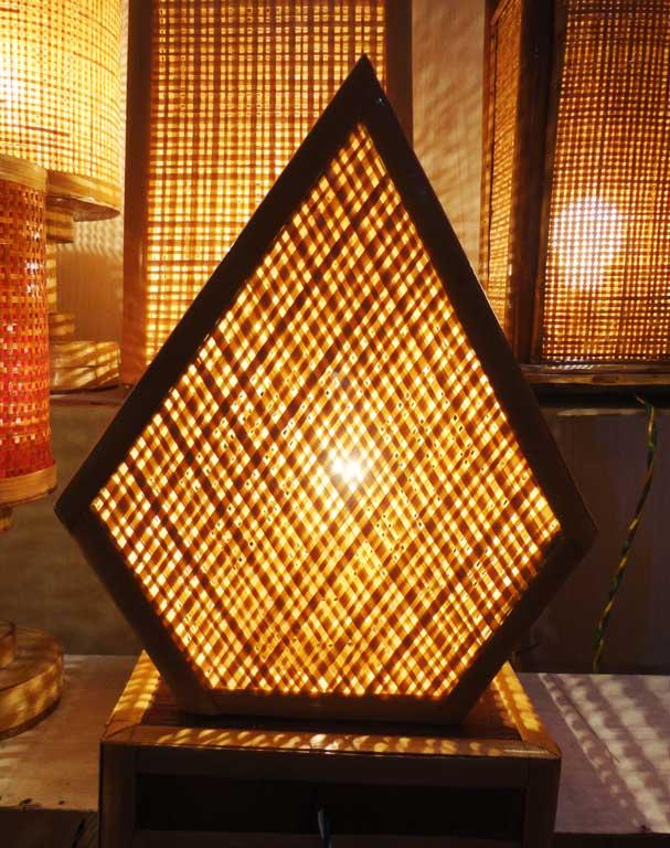 Pentagonal Net Lamp(#124)-gallery-1