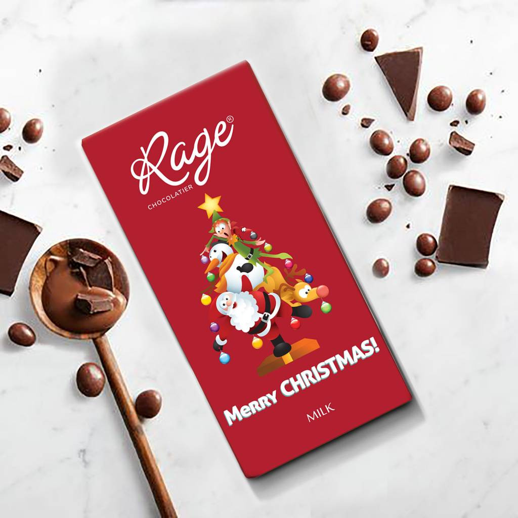 Rage Merry Christmas Milk Chocolate Bar 90 gm(#1251)-gallery-0