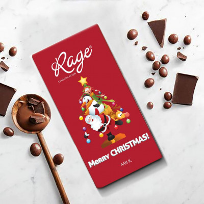 Rage Merry Christmas Milk Chocolate Bar 90 gm(#1251)-gallery-0