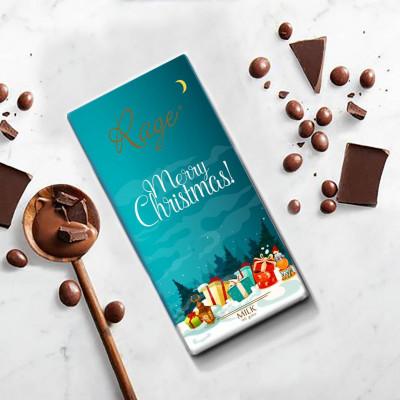 Rage Merry Christmas Milk Chocolate Blue Packaging 90 gm(#1252)-gallery-0
