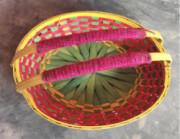 Bamboo Flower Basket With Handle(#1261) - getkraft.com