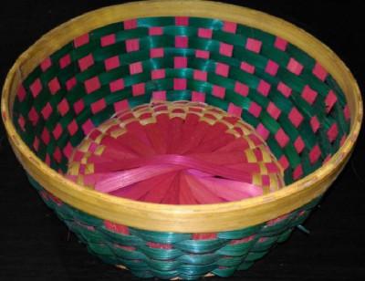 Bamboo Flower Basket Round(#1262)-gallery-0