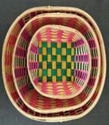 Color Bamboo Oval Tray(#1271) - getkraft.com