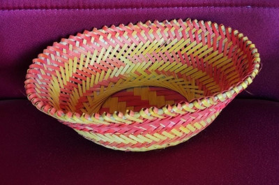 Bamboo Designer Basket Color Oval(#1272)-gallery-0