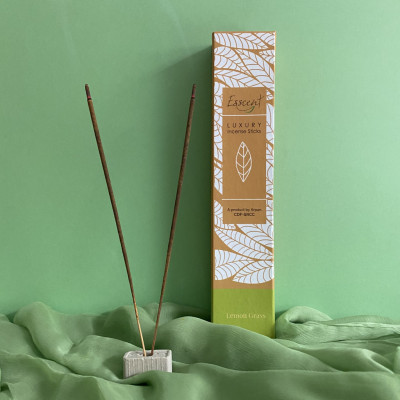 PREMIUM FLOWER BASED INCENSE STICKS- ESSCENT LEMONGRASS(#1315)-gallery-0