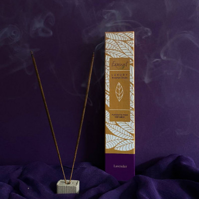 PREMIUM FLOWER BASED INCENSE STICKS- ESSCENT LAVENDER(#1318)-gallery-0