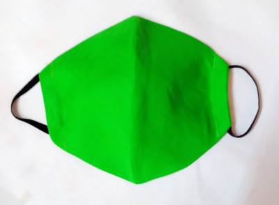 Cotton Handmade Reusable Mask Green (Pack of 5)(#1359)-gallery-0