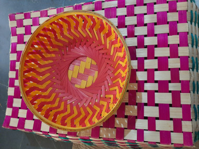 9 inch bamboo basket round(#1363)-gallery-0
