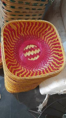 Bamboo fruit basket square(#1369)-gallery-0