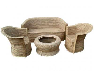 Eco-friendly Stylish Cane Sofa Set Designer Home Decor Set(#137)-gallery-0