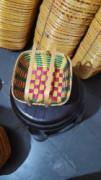 8 inch square handle bamboo basket(#1371) - getkraft.com