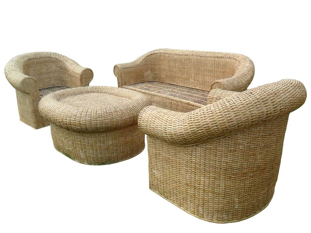 Cane Sofa Set with Radiant looks for Office/Home(#140)-gallery-1