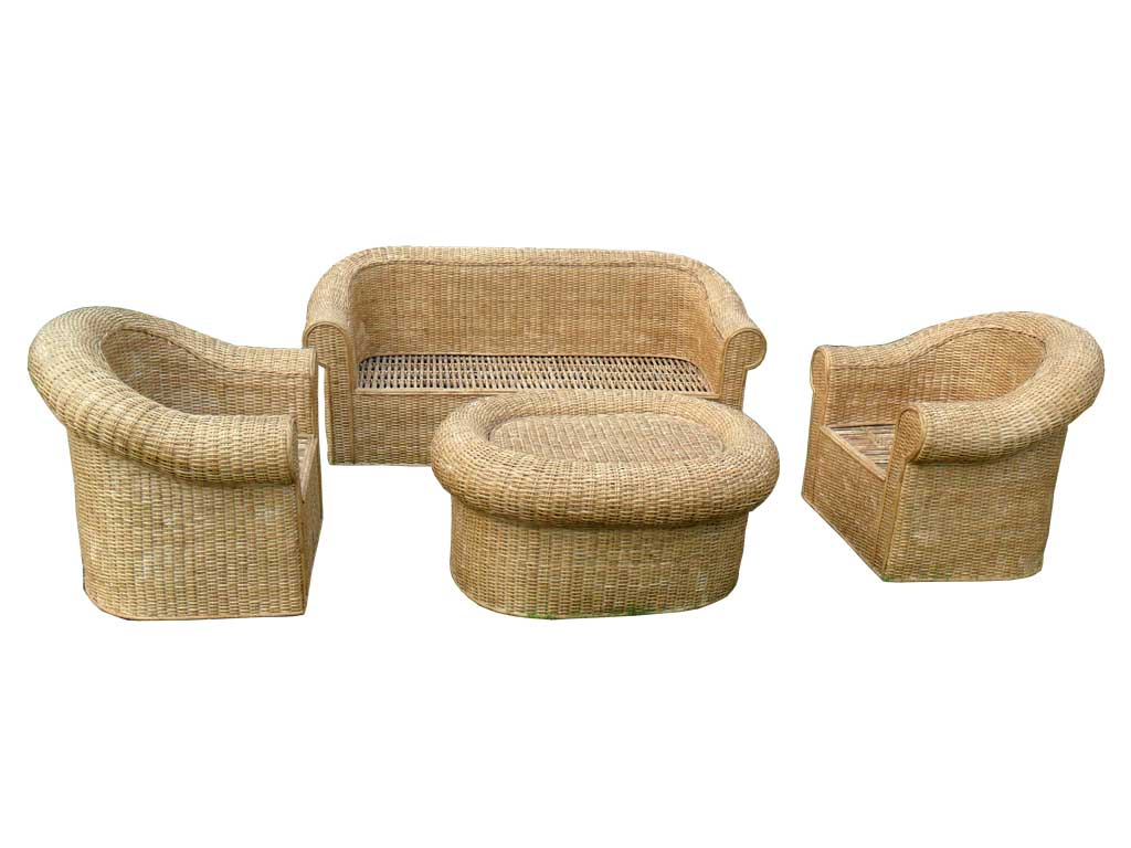 Cane Sofa Set with Radiant looks for Office/Home(#140)-gallery-2