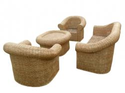 Classic Cane Sofa Set with Radiant looks for Office Home(#140) - getkraft.com