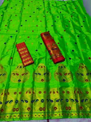 Assamese Mekhela Chador -Pure Paat(#1401)-gallery-0