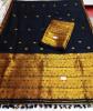 Assamese Staple Cotton Black Mekhela Chador P3(#1404) - getkraft.com