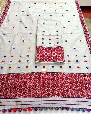 Assamese Staple Cotton Mekhela Chador P8(#1426)-gallery-0