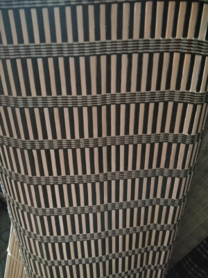 Zebra striped Bamboo Blind Natural Roll up(#1427)-gallery-0