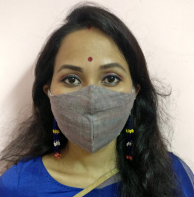 Eri Silk Organic naturally dyed Face Mask(#1436)-gallery-0