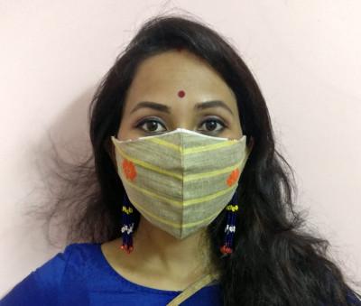 Eri Silk Designer Face Mask(#1438)-gallery-0