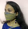 Eri silk Designer Face Mask(#1439)-thumb-1