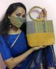 Eri silk Designer Face Mask(#1439)-thumb-2