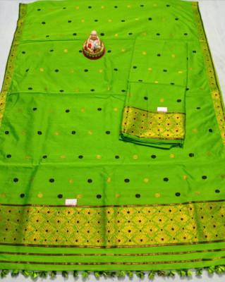 Assamese Staple Cotton Mekhela Chador P10(#1441)-gallery-0