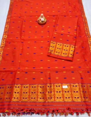 Assamese Staple Cotton Mekhela Chador P14(#1444)-gallery-0
