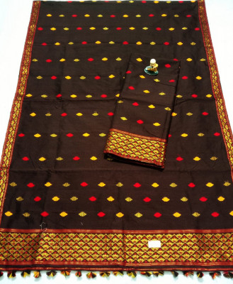 Assamese Staple Cotton Mekhela Chador P16(#1445)-gallery-0