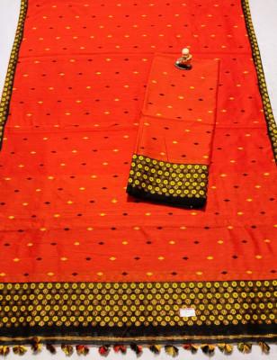 Assamese Staple Cotton Mekhela Chador P17(#1447)-gallery-0