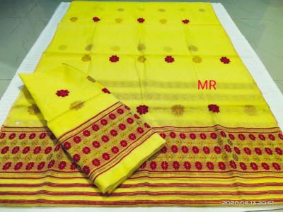 Assamese Nooni Cotton Mekhela Chador P20(#1450)-gallery-0