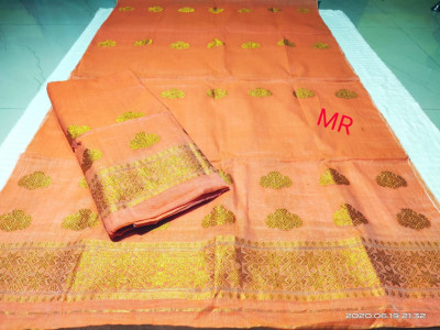 Assamese Nooni Cotton Mekhela Chador P25(#1455)-gallery-0