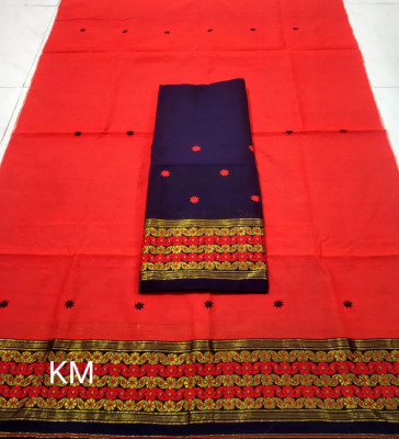 Assamese Staple Cotton Mekhela Chador P47(#1478)-gallery-0