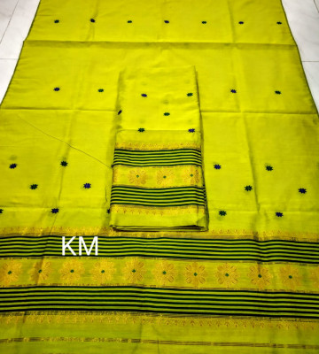 Assamese Staple Cotton Mekhela Chador P50(#1481)-gallery-0