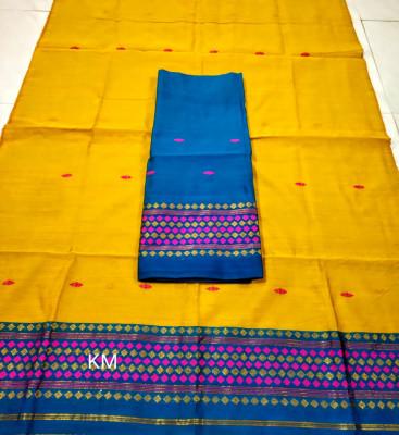 Assamese Staple Cotton Mekhela Chador P55(#1486)-gallery-0