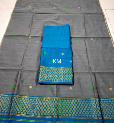 Assamese Staple Cotton Mekhela Chador P58(#1488)-gallery-0