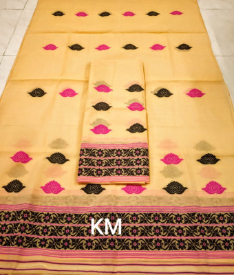 Assamese AC Cotton Mekhela Chador P65(#1494)-gallery-0