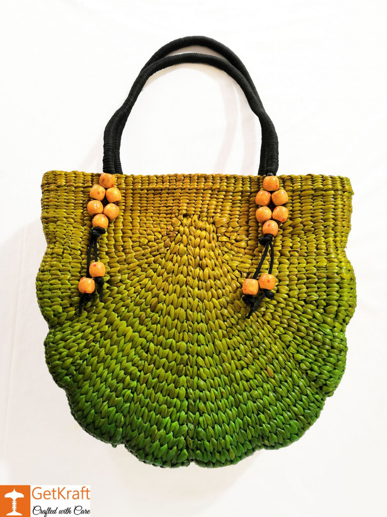 Attractive Multicolored Natural Straw Ladies Bag(#151)-gallery-0