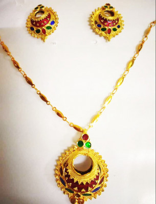 Assamese Traditional Kerumoni Jewellery for Women(#1524)-gallery-0